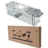 D4P Display4top Große Marderfalle, einfach zu fangen I Wetterfeste, robuste Lebendfalle I Falle 2 Eingänge für Marder, Katze I Lebend Kaninchenfalle Katzenfalle, Marderfallen (61 x 18 x 21cm)