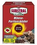 Substral Celaflor Mäuse-Portionsköder, Anwendungsfertiger, attraktiver Köder zur Bekämpfung von Mäusen mit Wirkstoff, 20 x 10 g Portionsbeutel