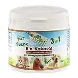 100ProBio Kokosöl für Tiere -zur Fellpflege und Nahrungsergänzung - ohne Chemie | Hund, Katze & Pferd | 1er Pack (1 X 500ml)