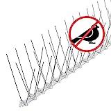 riijk 3 Meter Taubenabwehr Spikes vormontiert   Rostfreie Taubenschreck Vogelspikes   Vogelabwehr Spikes undVogelschutz   Tierschutzkonformer Taubenschutz