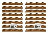 Vogelabwehr-Spikes 4m aus Kunststoff Braun - 16 Paneele a 25cm - Katzenspikes Taubenabwehr-Spikes Schutz gegen Vögel