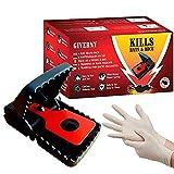GIVERNY Rattenfalle & Mausefalle (6er-Set) Leistungsstark, Einfach zu Bedienen, Effizient, Schnell Tötend - Bonus Latex-Handschuhe für Optimale Sicherheit und Sauberkeit - Geld-ZURÜCK-GARANTIE